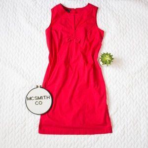 Talbots | Red Bow Sheath Sleeveless Dress